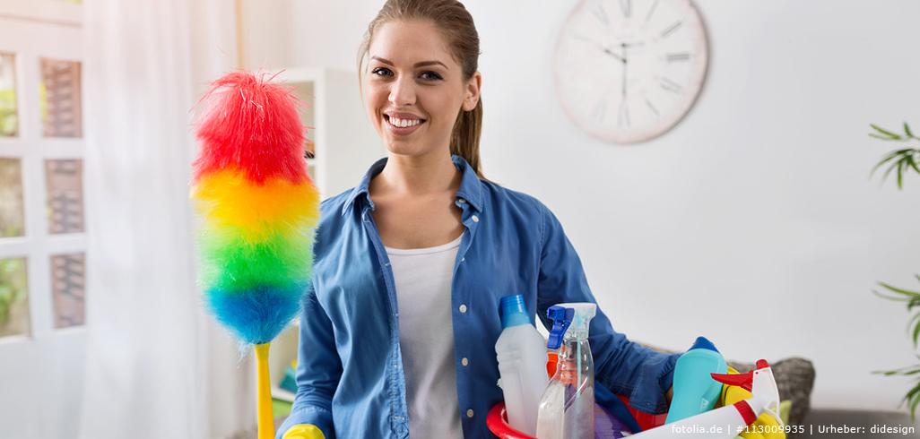 Freude beim Putzen
