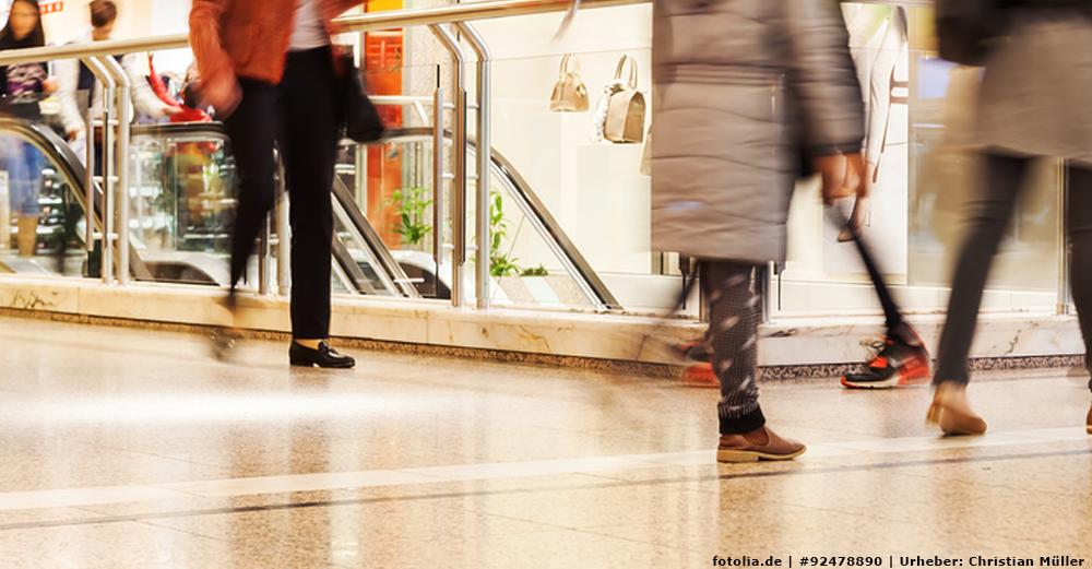 Gebäudereinigung im Einkaufszentrum