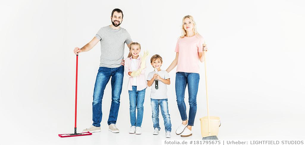 Putzplan für Familie