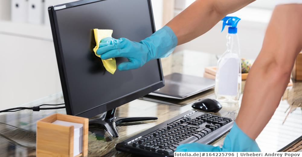 Sauberer Arbeitsplatz dank Büroreinigung vom Profi!