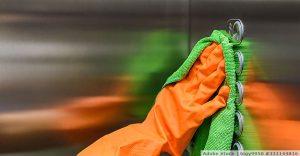 Desinfektion von Oberflächen in Büros und anderen Betrieben